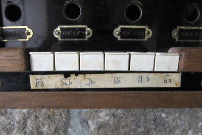 Les 6 notes du clavier du carillon