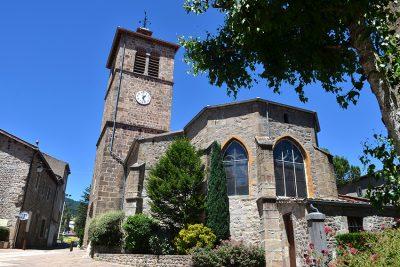 L'église de St-Julien-Molin-Molette et son clocher